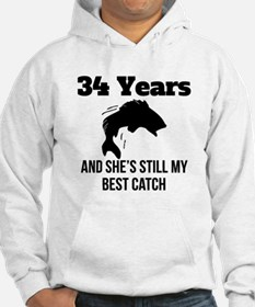 34 Years Best Catch Hoodie