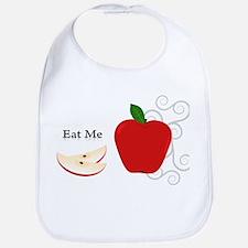 Red Apple Eat Me Illustration Bib