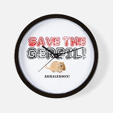 SAVE THE GERBIL - ARMAGEDDON! Wall Clock