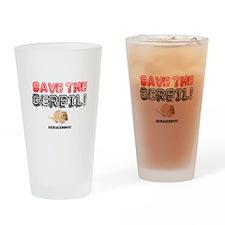 SAVE THE GERBIL - ARMAGEDDON! Drinking Glass