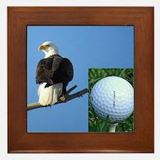 Golf Eagle Framed Tile