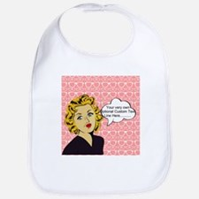 Nerdy Blonde Lady Personalized Bib