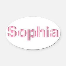 Sophia Oval Car Magnet