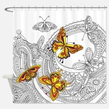 Butterfly Sketch 2 Shower Curtain