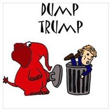 Funny Dump Trump Political Cartoon Poster