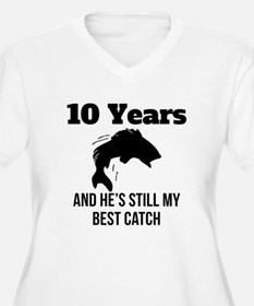 10 Years Best Catch Plus Size T-Shirt