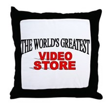 """The World's Greatest Video Store"" Throw Pillow"