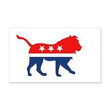 Political Lion Rectangle Car Magnet