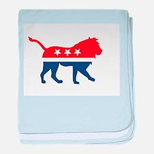 Political Lion baby blanket