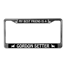 My Best Friend Is A Gordon Setter License Frame