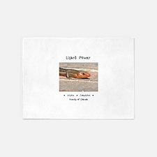 Lizard Power Animal Medicine 5'x7'Area Rug