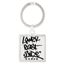Cute Lower east side ny Square Keychain