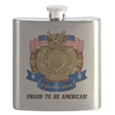 Cute Proud american Flask