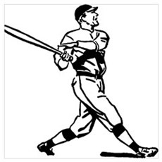 Vintage baseball player Poster