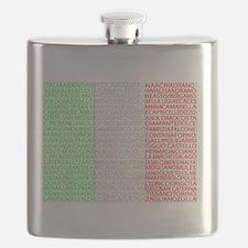 Italian Cities Flag Flask