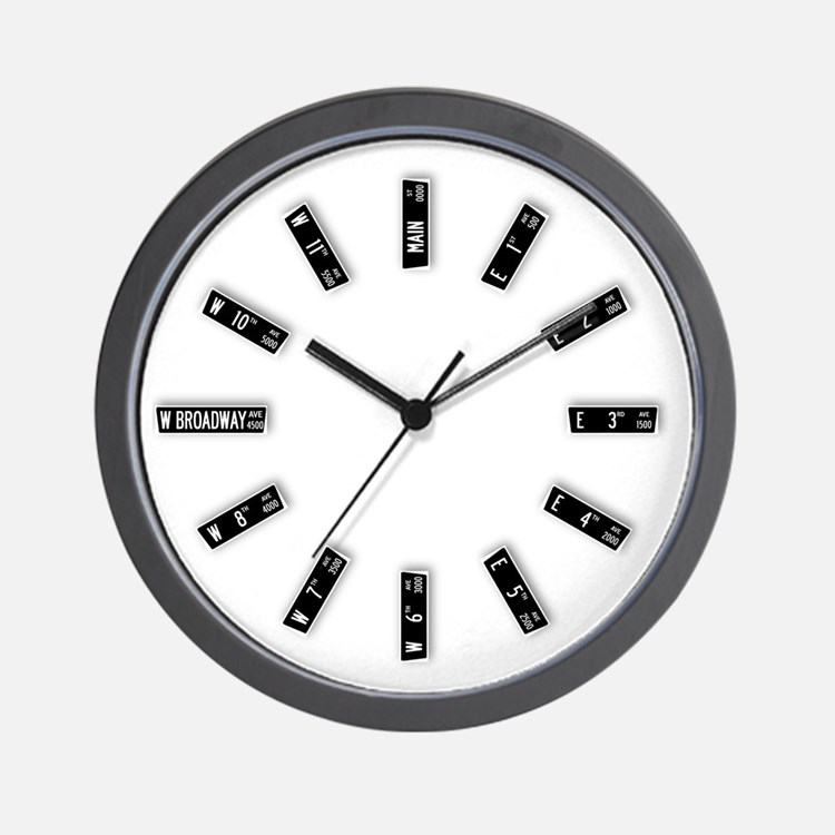 Vancouver Street Signs Wall Clock