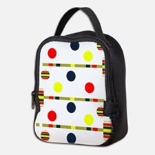 Croquet Pattern Neoprene Lunch Bag