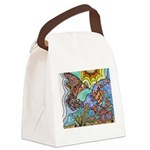 Hummingbird Goldfish Kiss Canvas Lunch Bag