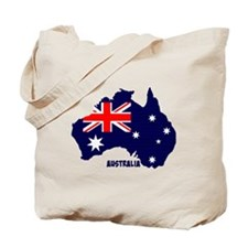 Australia map silhouette, flag Tote Bag
