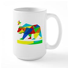 California State Flag Bear (colors & angles) Mugs
