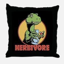 T-Rex Herbivore Throw Pillow