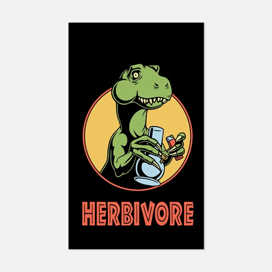 T-Rex Herbivore Sticker (Rectangle)