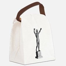 Pope Francis Rocky Statue Canvas Lunch Bag