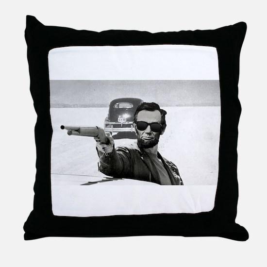 Bad A** Abe Throw Pillow