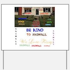 REGINA VACUME ANIMALS, MARY. Yard Sign
