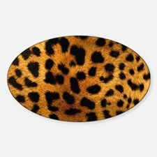 girly trendy leopard print Decal