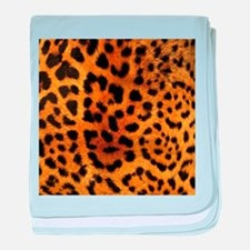 girly trendy leopard print baby blanket