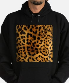 girly trendy leopard print Hoodie (dark)