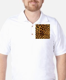 girly trendy leopard print Golf Shirt
