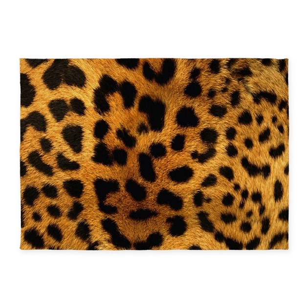 girly trendy leopard print 5 39 x7 39 area rug by admin cp62325139