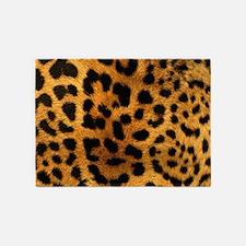 girly trendy leopard print 5'x7'Area Rug