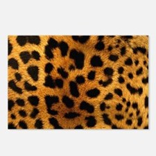 girly trendy leopard prin Postcards (Package of 8)