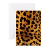Leopard print Greeting Cards (10 Pack)