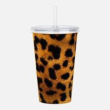 girly trendy leopard p Acrylic Double-wall Tumbler