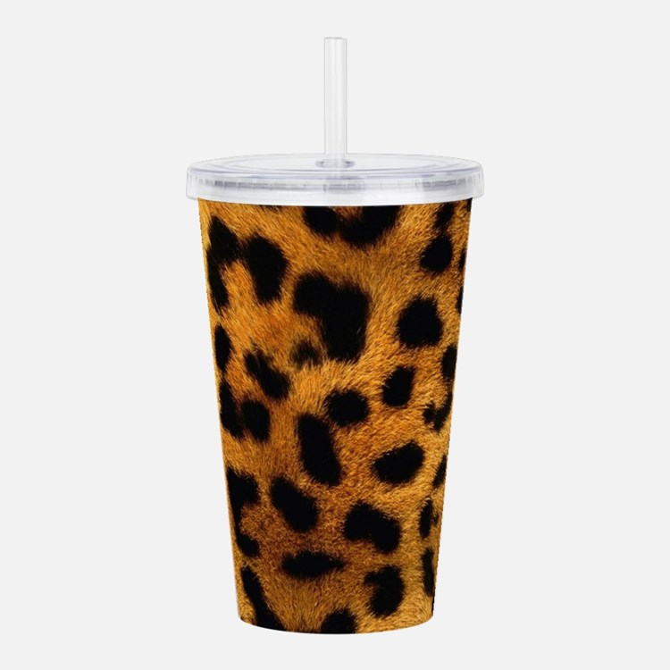 girly trendy leopard p Acrylic Double-wall Tumbler