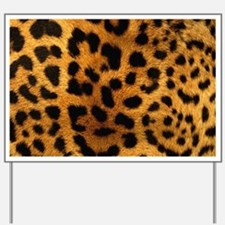 girly trendy leopard print Yard Sign