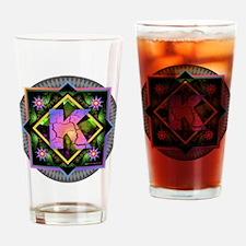 Bold Beautiful K Drinking Glass