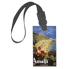 Vintage Amalfi Italy Travel Luggage Tag