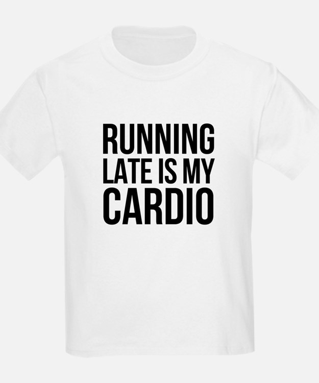 rUNNING LATE - BLACK T-Shirt