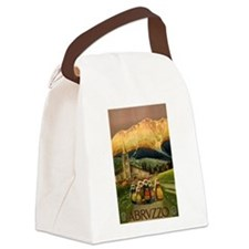 Vintage Abruzzo Italy Travel Canvas Lunch Bag