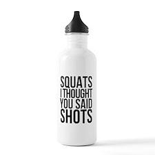 SQUATS SHOTS Water Bottle