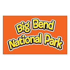 Big Bend National Park (Cartoon) Sticker (Rectangu