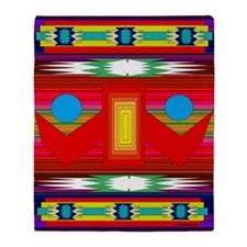 Peaceful Dance Indian Blanket Motif Throw Blanket