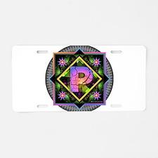 Bold Beautiful P Aluminum License Plate