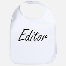 Editor Artistic Job Design Bib