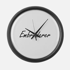 Embroiderer Artistic Job Design Large Wall Clock